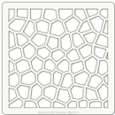 "Artistic Flair, Craft Stencil 101 Range - (4"" x 4"") - Crackle Texture"